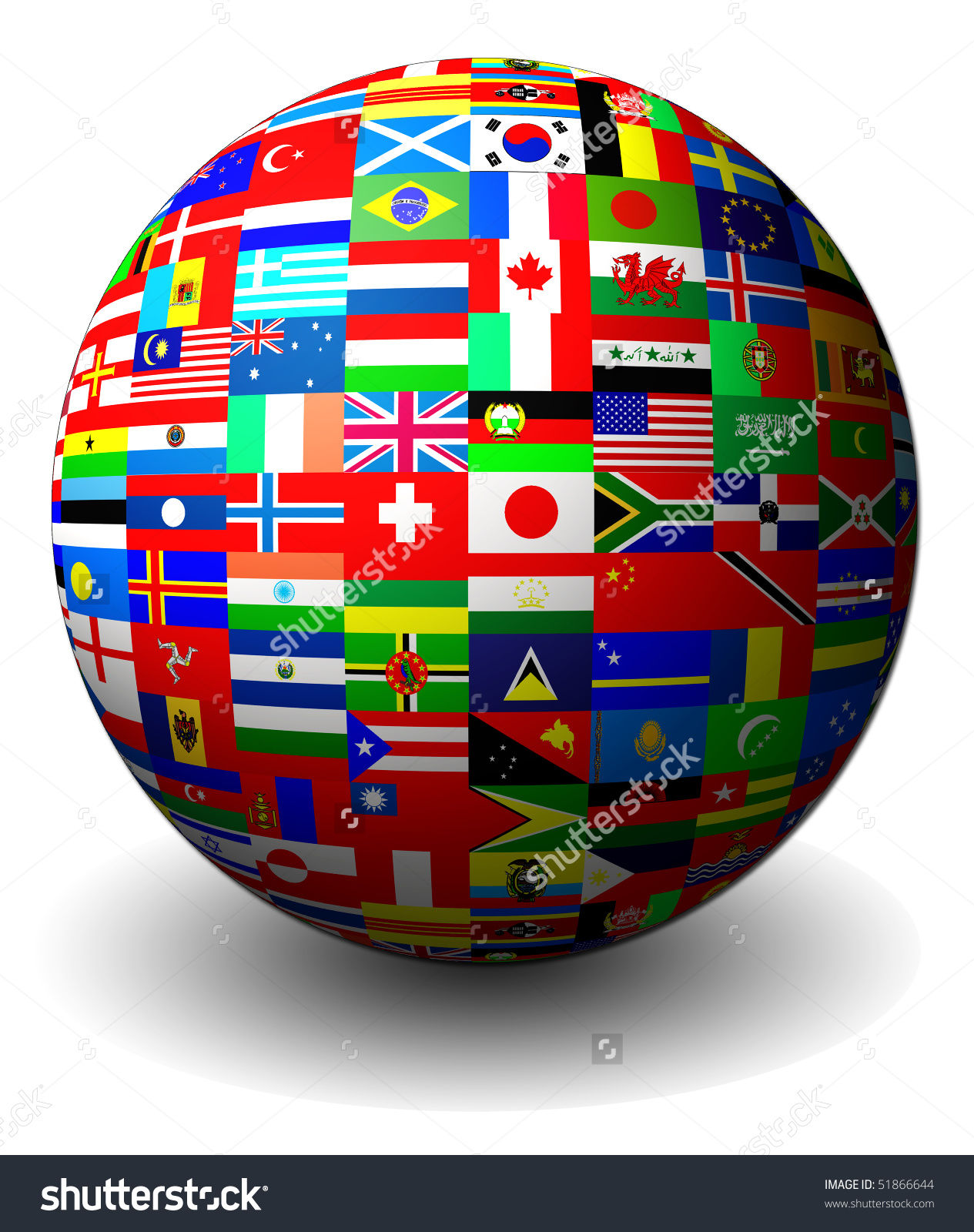 Flag Globe Stock Illustration 51866644 Shutterstock