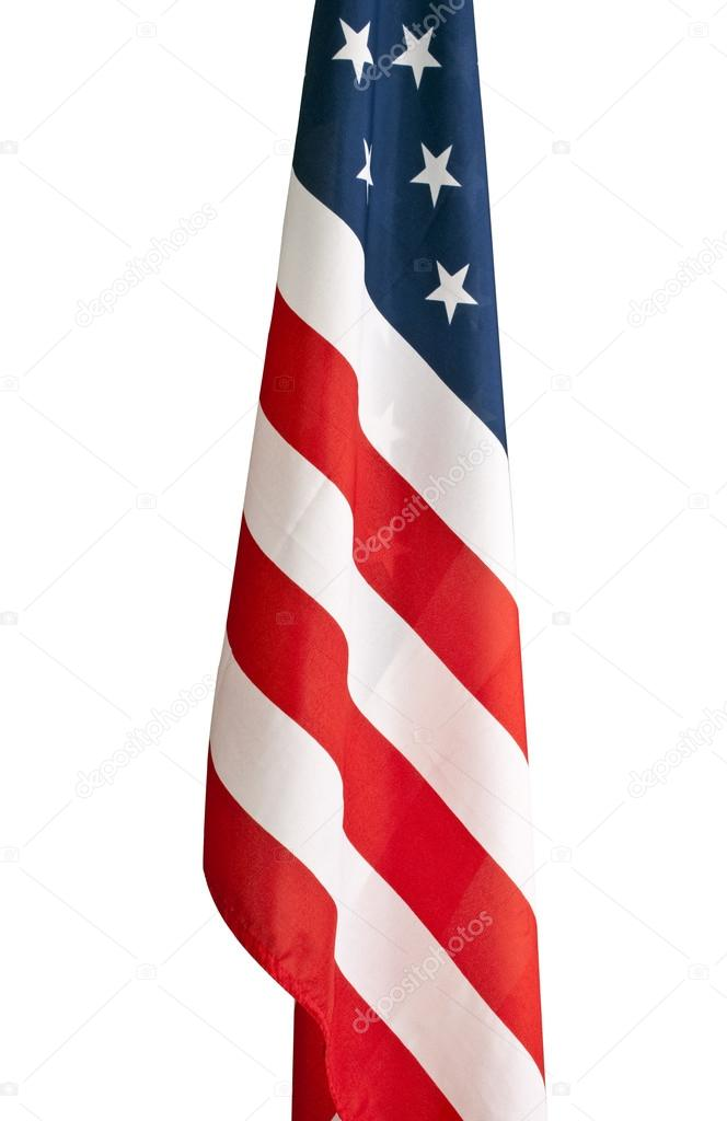 American flag hanging in a school room. — Stock Photo © rcarner