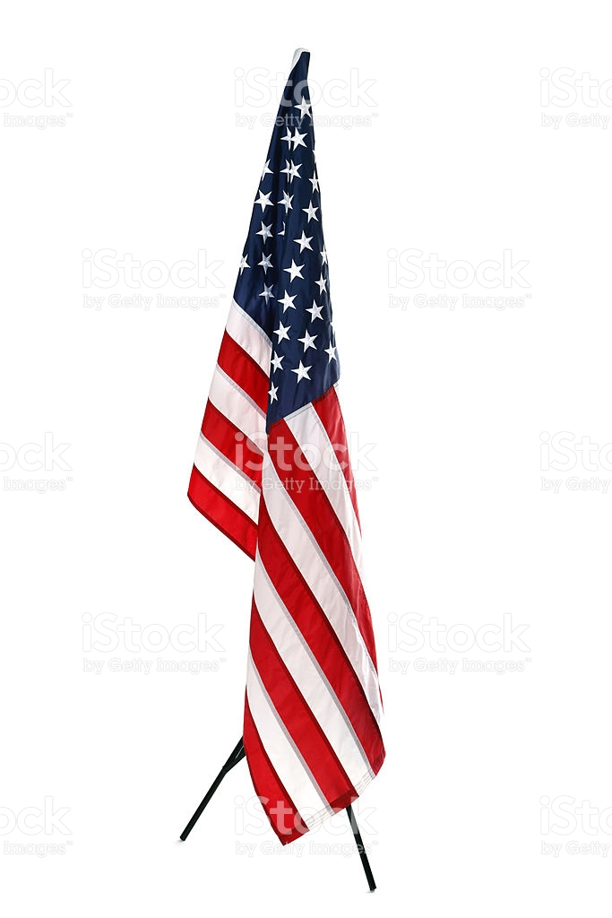 Hanging American Flag Isolated On White stock photo 175539254 | iStock