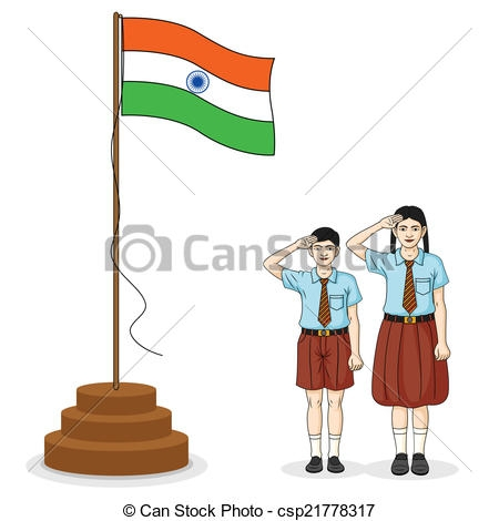 Indian flag hoisting clipart ClipartFest