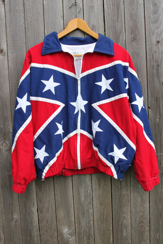 Confederate FLAG JACKET Size MEDIUM
