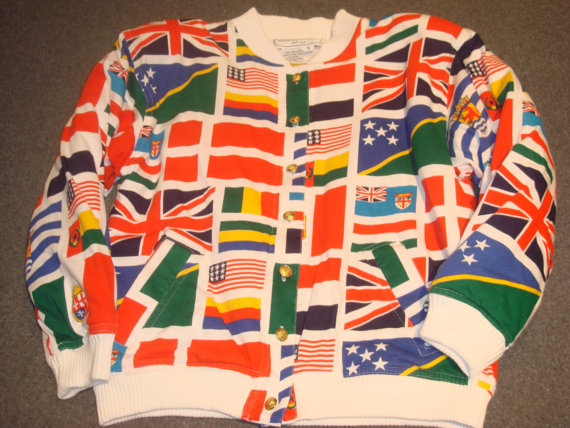 Adrienne Vittadini Women's International Flag Jacket