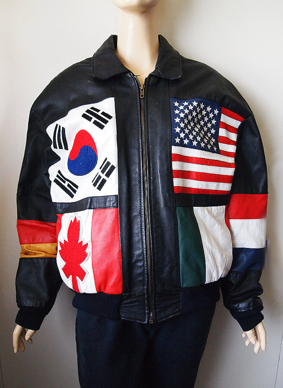SUPREME // Vintage 80s Leather Bomber Jacket Germany Japan