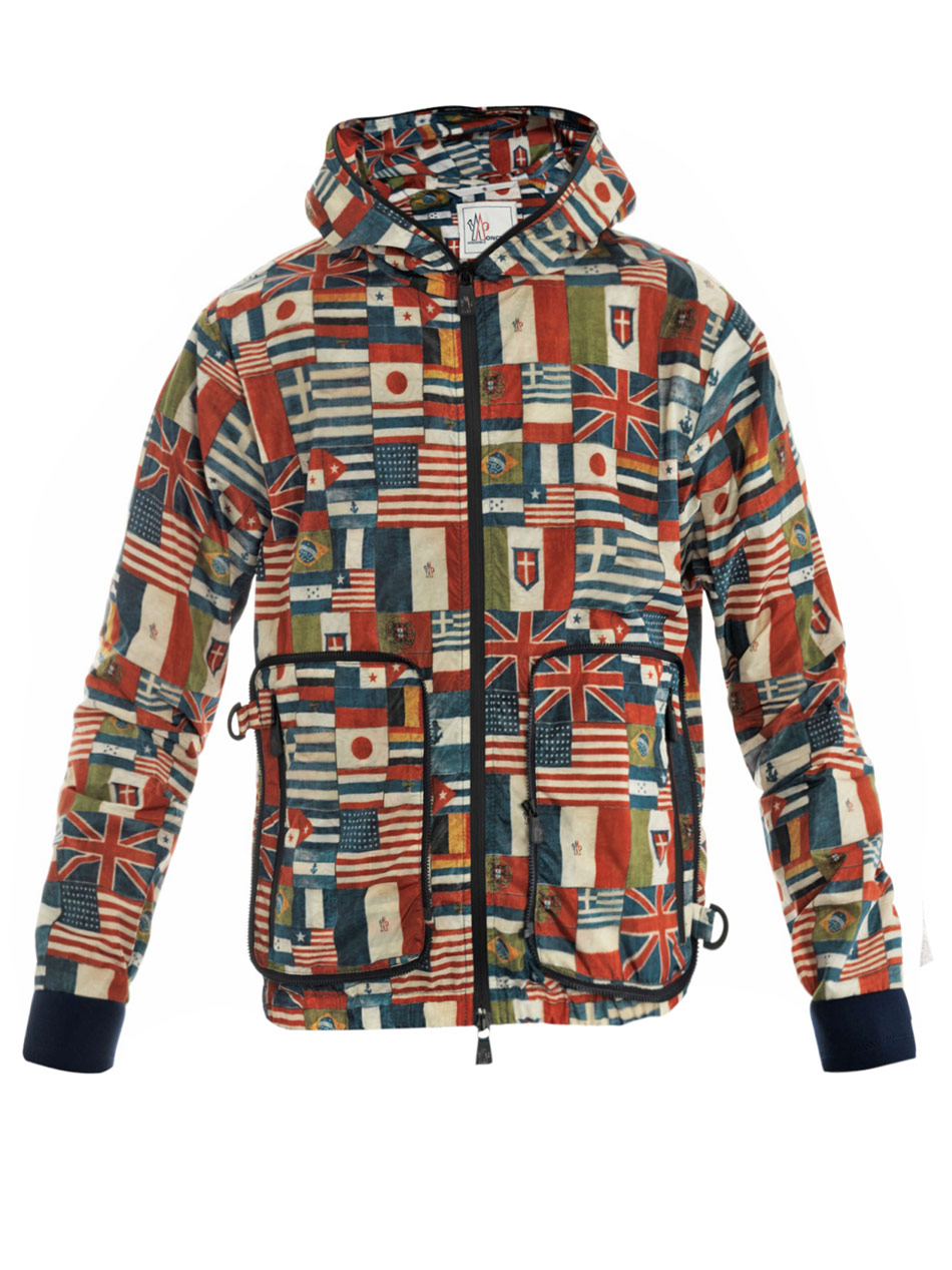 Moncler grenoble Bolbec Flag Print Packaway Jacket for Men | Lyst