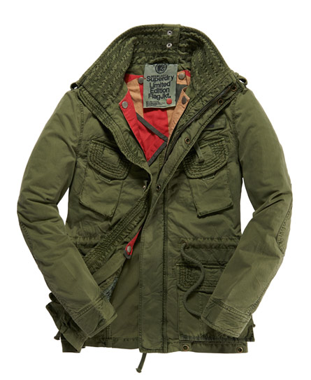 Mens Flag Jacket in Army | Superdry