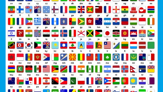 List of countries with national flags