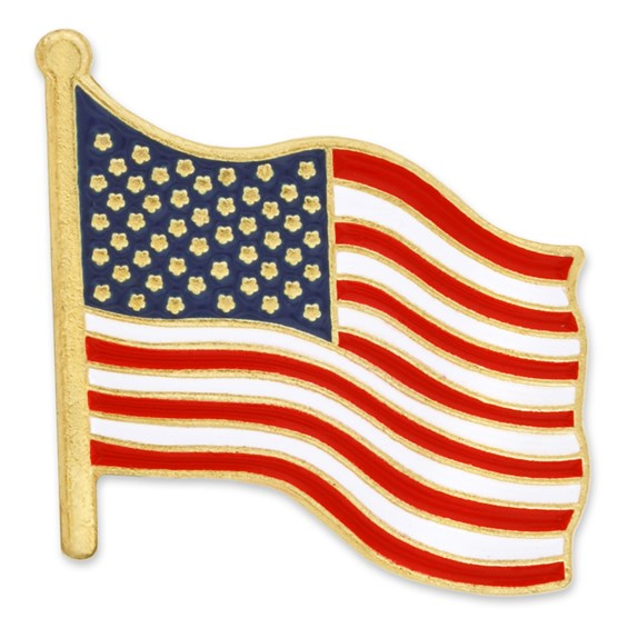 American Flag Pin, USA Flag Pin. Flag Lapel Pins Pin Mart | PinMart