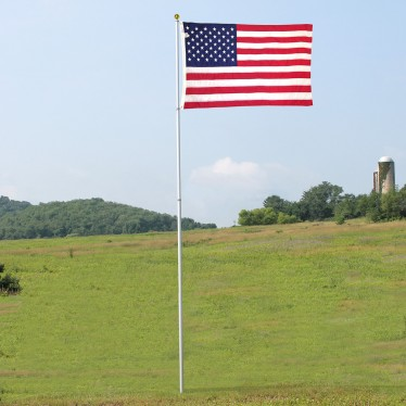 Shop Valley Forge Flag 20' In Ground Fiberglass Flag Pole at Lowes.com