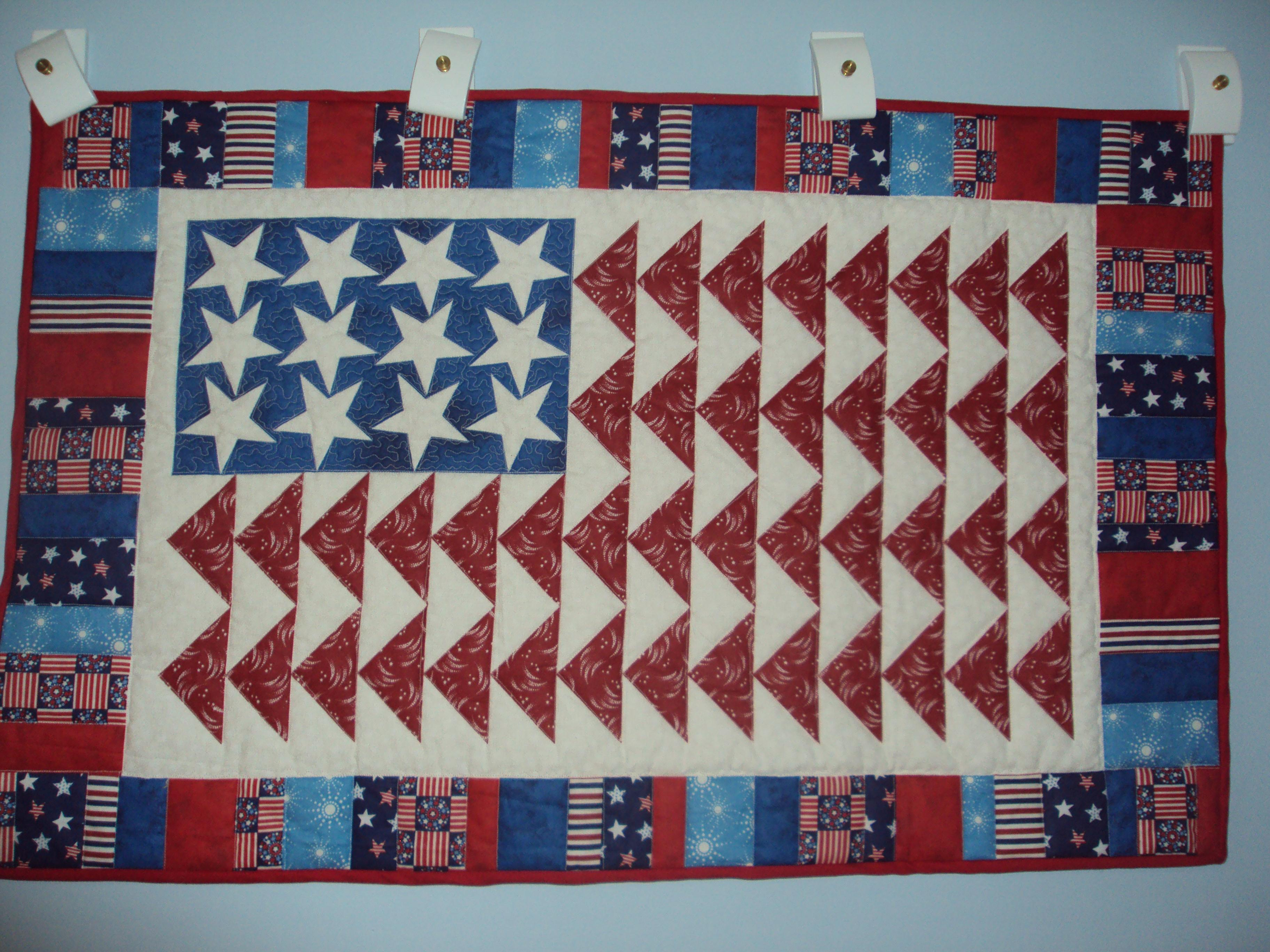 American flag quilt panel | Quilt Notes