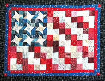 Flag Quilts Designed in Electric Quilt by Tish Douglas