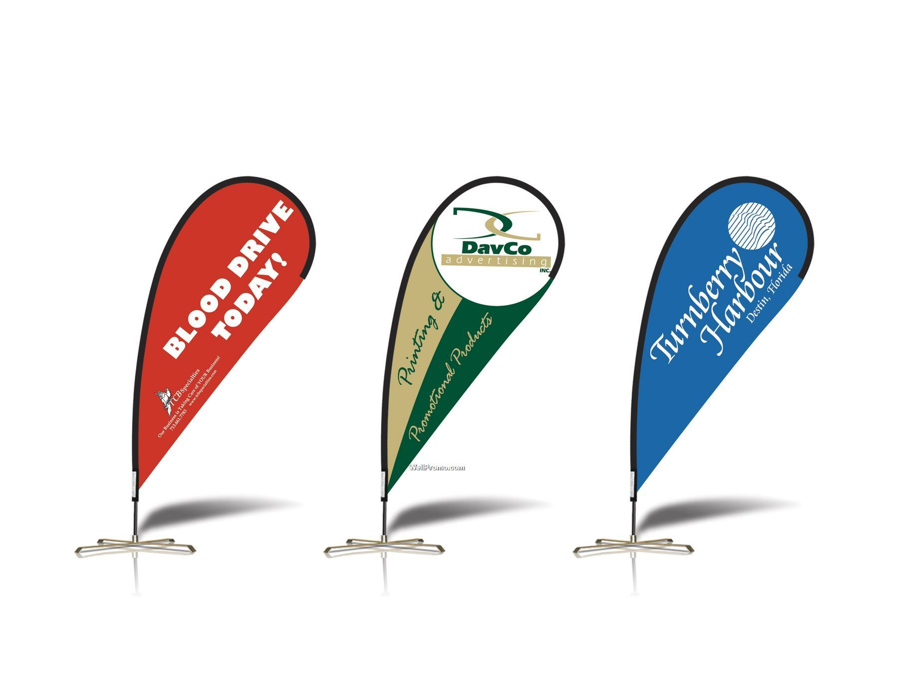 Custom Teardrop Banners | Flutter Flag | Flag Pole Signs