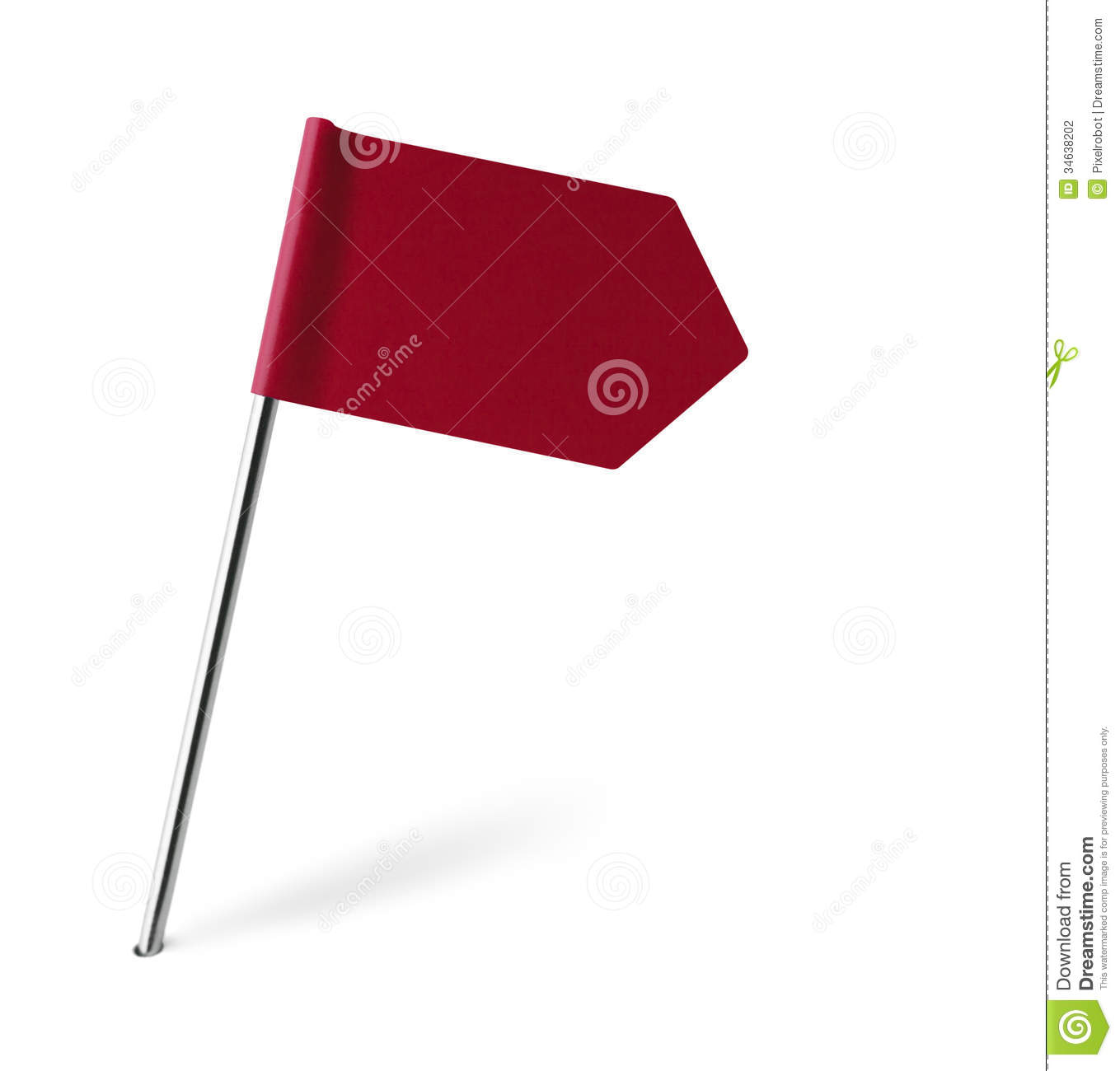 Red Sign Flag Stock Photography Image: 34638202
