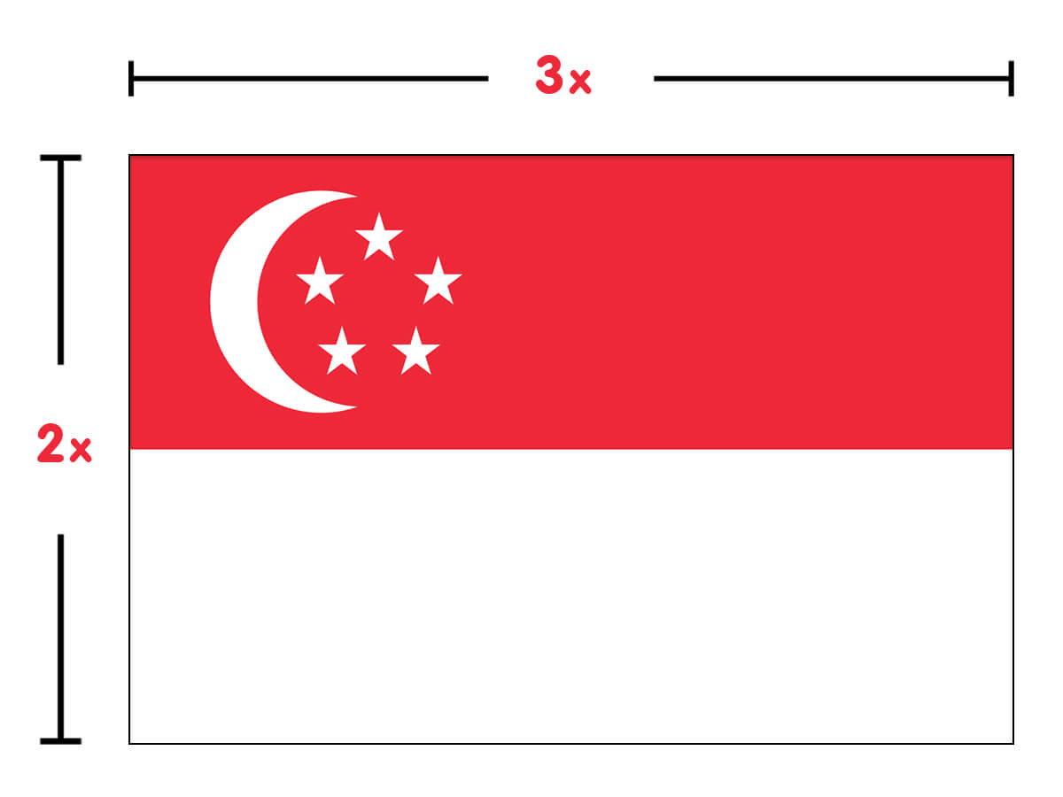 Singapore Flag colors Singapore Flag meaning & history
