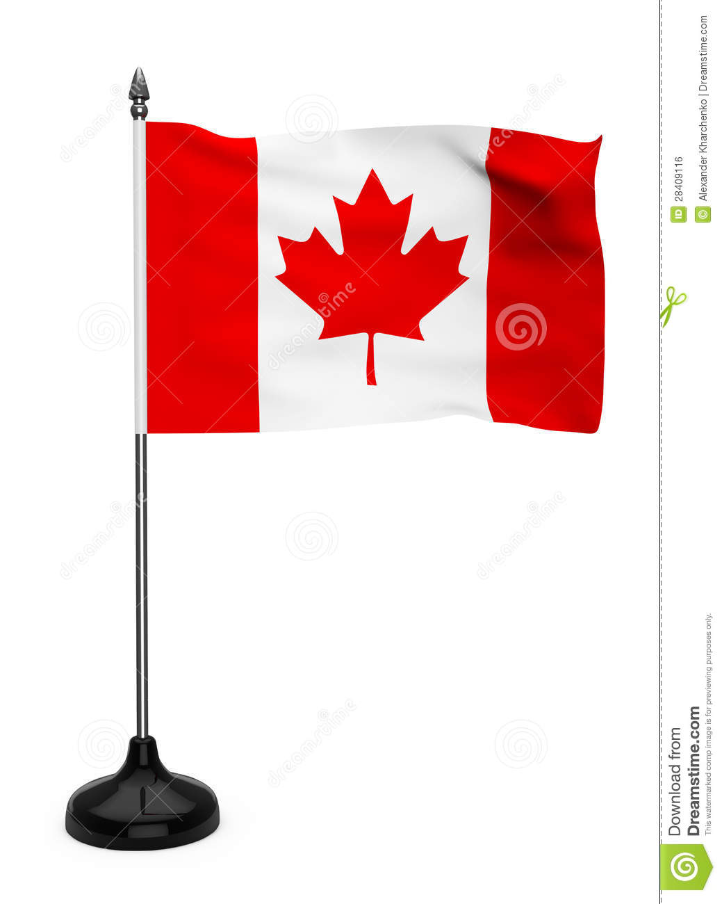 Canada Flag With Stand Royalty Free Stock Image Image: 28409116