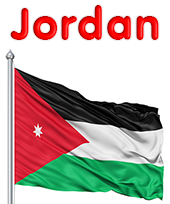 Jordan Flag colors meaning history of Jordan Flag