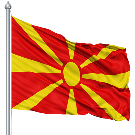 Flag Macedonia Animated Flag Gif