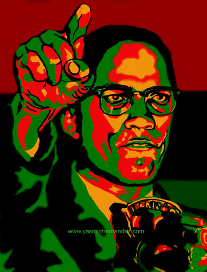 Artwork: Malcolm X