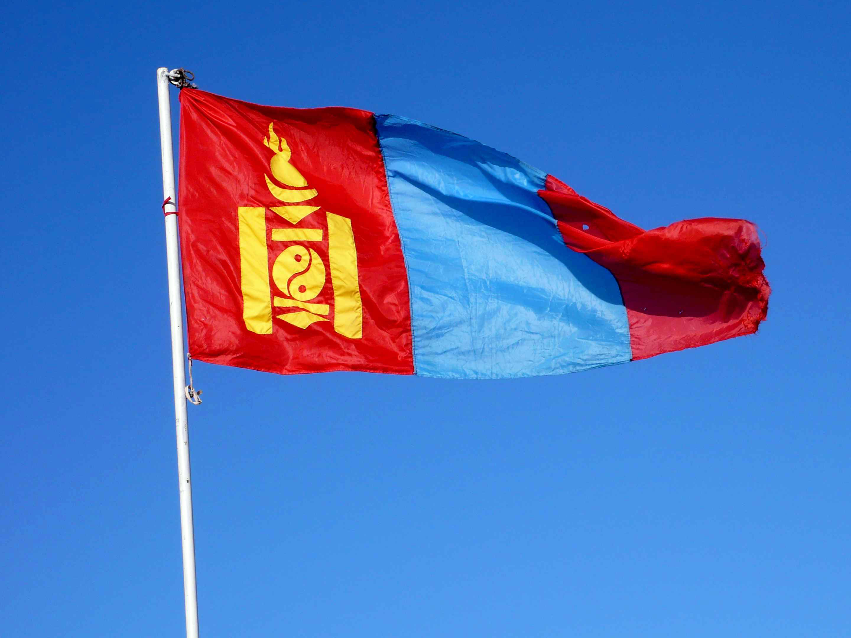 Clipart Mongolia Flag Map