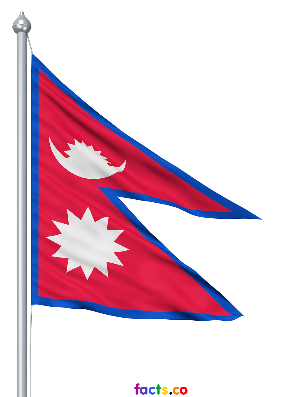 Square flag background. Illustration of flag of Nepal