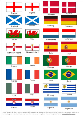 Printable Flags of the World