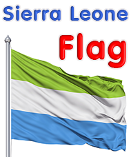 This is Sierra Leone's Flag. Where A Long Way Gone took place | A