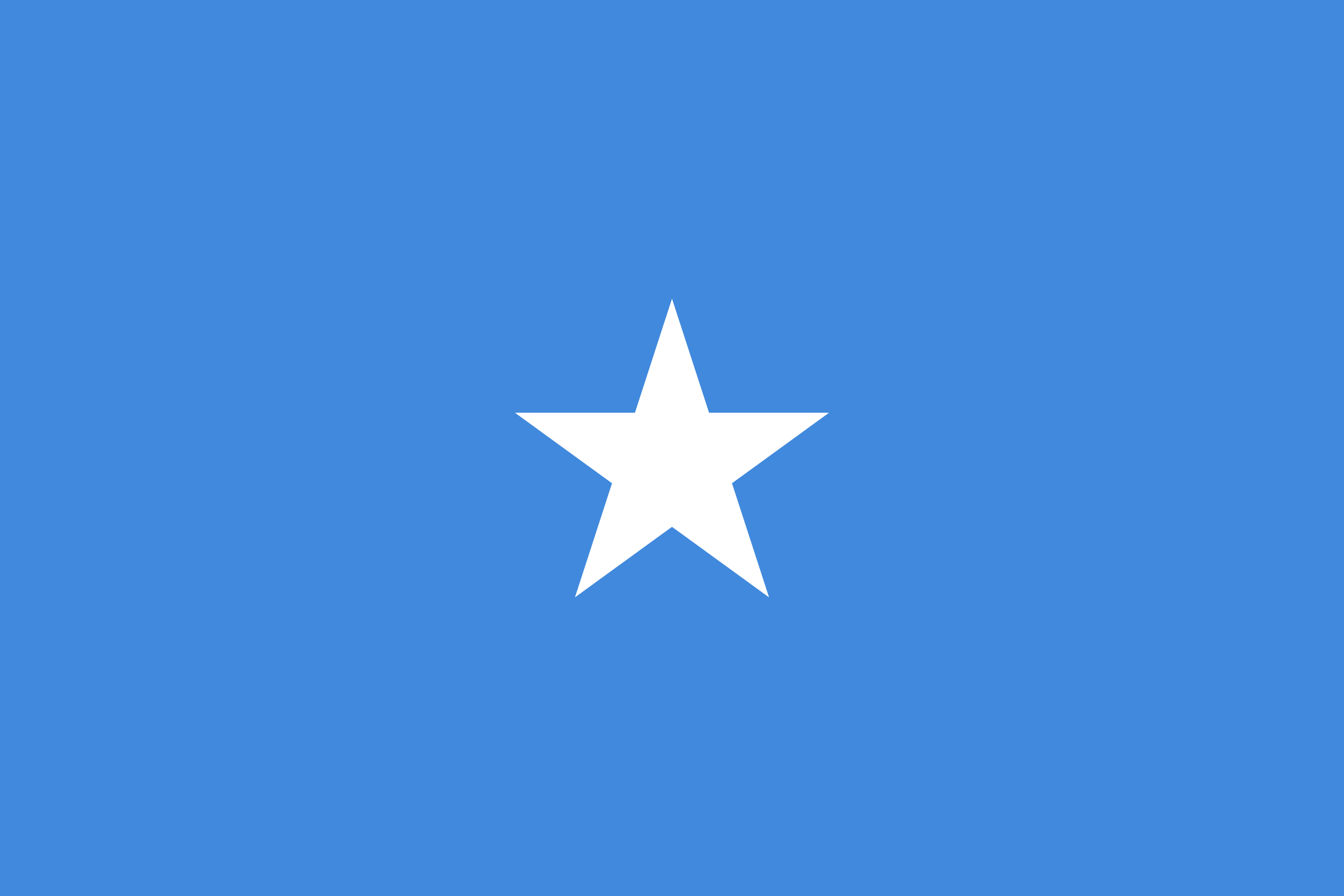 The official flag of the Somalia